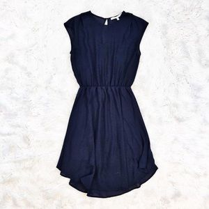 Collective Concepts navy georgette dress